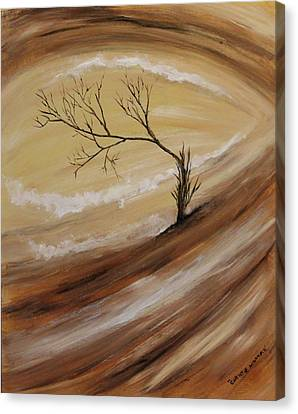 Canvas Print featuring the painting The Edge by Christie Minalga