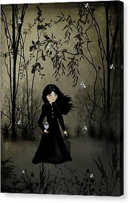 Goth Girl Canvas Print - The Edge Of Night by Charlene Zatloukal