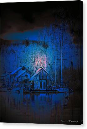 The Edge Of Night Canvas Print by Steve Warnstaff
