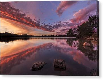 The Edge Of Sunrise Canvas Print
