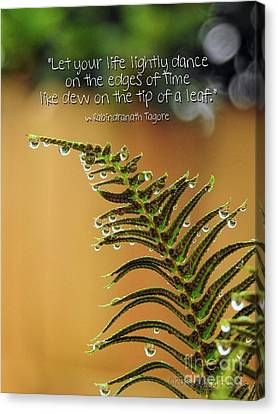 Canvas Print featuring the photograph The Edges Of Time by Peggy Hughes
