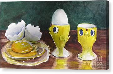 The Egghead And The Airhead Canvas Print
