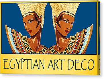 The Egyptian Twins Canvas Print