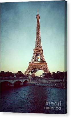 Canvas Print featuring the photograph The Eifeltower by Hannes Cmarits