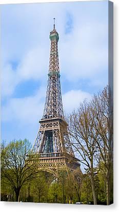 The Eiffel Tower In Paris, France Canvas Print