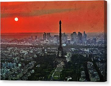 The Eiffel Tower Canvas Print by PixBreak Art