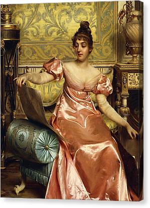 The Elegant Connoisseur Canvas Print by Joseph Frederick Charles Soulacroix