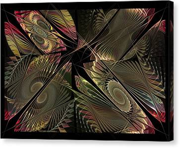 Canvas Print featuring the digital art The Elementals - Calling The Corners by NirvanaBlues