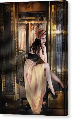The Elevator Girl Canvas Print