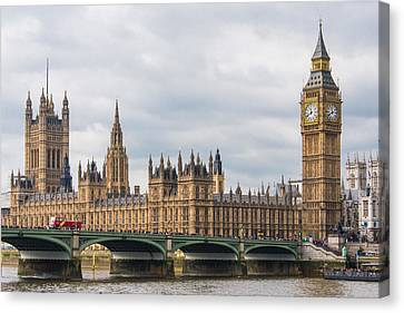 The Elizabeth Tower And Houses Of Parliament Canvas Print by AMB Fine Art Photography