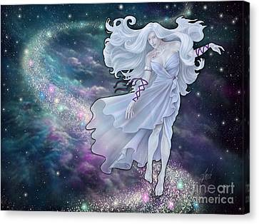 Canvas Print featuring the digital art The Emancipation Of Galatea by Amyla Silverflame