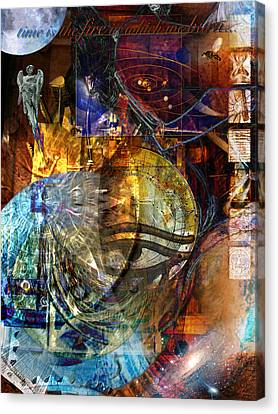 The Embers Of Memory Canvas Print by Kenneth Armand Johnson