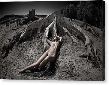 Canvas Print featuring the photograph Deaths Embrace by Dario Infini