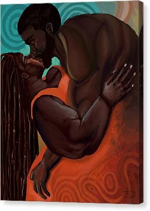 The Embrace Canvas Print by David James