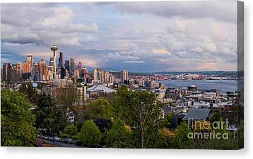 Canvas Print featuring the photograph The Emerald City  by Anthony Citro