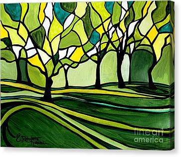 The Emerald Glass Forest Canvas Print