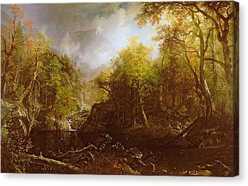 The Emerald Pool Canvas Print by Albert Bierstadt