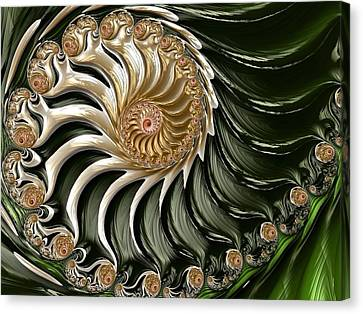 The Emerald Queen's Nautilus Canvas Print