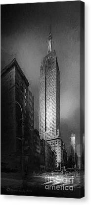 Canvas Print featuring the photograph The Empire State Ch by Marvin Spates