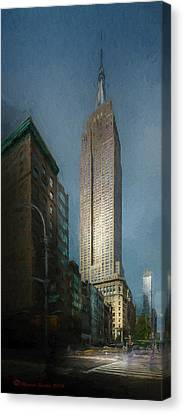 The Empire State Canvas Print by Marvin Spates