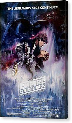 The Empire Strikes Back Canvas Print by Baltzgar