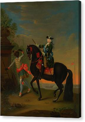 Canvas Print featuring the painting The Empress Elizabeth Of Russia by Georg Grooth