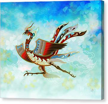 The Empress - Flight Of Phoenix - Blue Version Canvas Print