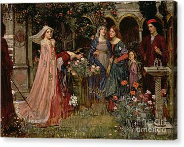 The Enchanted Garden Canvas Print by John William Waterhouse