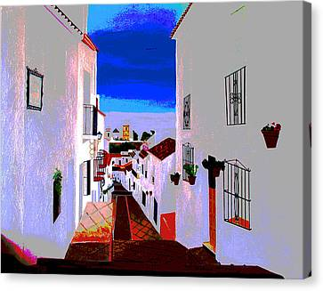 The Enchanted Village Of Mijas Canvas Print