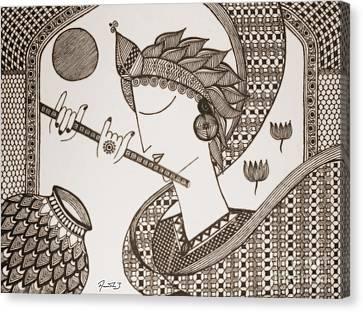 The Enchanting Flutist Canvas Print by Amrutha Jayachandran
