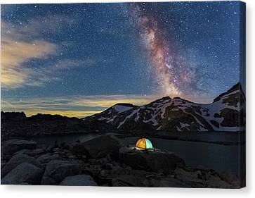 Mountain Trekking Canvas Print