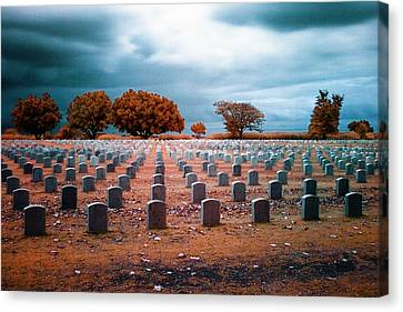 Headstones Canvas Print - The End 2 by Skip Nall