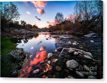 The End Of Autumn Canvas Print by Giuseppe Torre