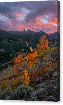 The End Of Autumn - Rocky Mountain National Park Canvas Print