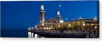 The End Of Navy Pier In Chicago Canvas Print by Twenty Two North Photography