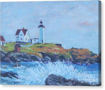 The End Of Summer- Cape Neddick Maine Canvas Print by Alicia Drakiotes
