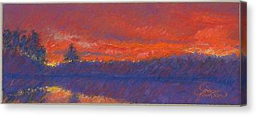 The End Of Sunset Canvas Print by Grace Goodson