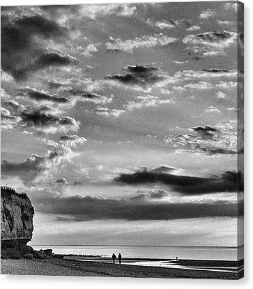 Landscapes Canvas Print - The End Of The Day, Old Hunstanton  by John Edwards