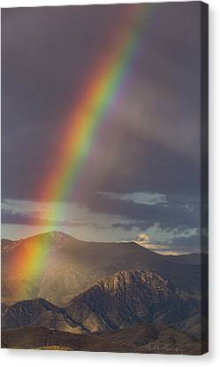 The End Of The Rainbow Is The Southwest Canvas Print by Bill Cantey