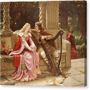 The End Of The Song Canvas Print by Edmund Blair Leighton