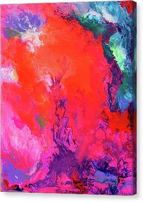 Blau Canvas Print - The Energy Of Summer - Big Abstract Print Art by Tiberiu Soos