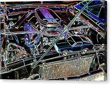 Component Canvas Print - The Engine Of A Sports Car  by Lanjee Chee