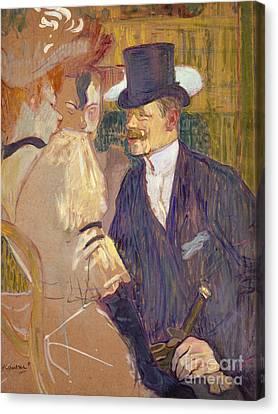 The Englishman  Canvas Print by Henri de Toulouse-Lautrec