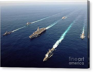 The Enterprise Carrier Strike Group Canvas Print by Stocktrek Images