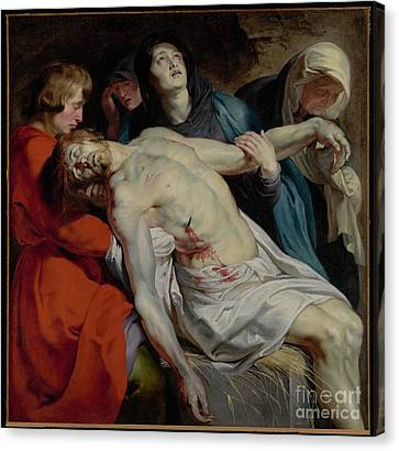Munch Canvas Print - The Entombment By Peter Paul Rubens by Esoterica Art Agency