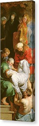 Peter Paul Rubens Canvas Print - The Entombment Of St Stephen by Peter Paul Rubens