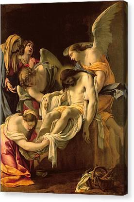 The Entombment Canvas Print by Simon Vouet