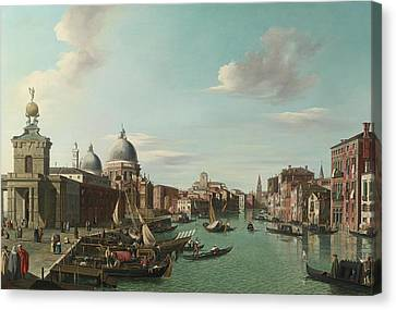 The Entrance To The Grand Canal Looking Wes Canvas Print