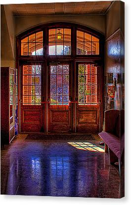 Greyhound Canvas Print - The Entryway by David Patterson