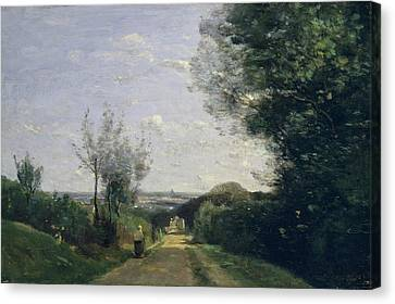 The Environs Of Paris Canvas Print by Camille Corot